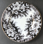 Small shallow plate with brown ornament - Altrohlau