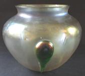 Round iridescent Art Nouveau vase