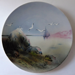 Hanging plate with a sailboat and seagulls - Walerfangen, Villeroy & Boch