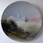 Závěsný talíř s plachetnicí a racky - Walerfangen, Villeroy & Boch