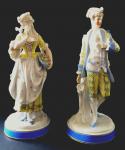 Large porcelain aristocratic couple - Plauen