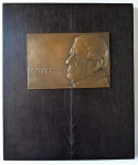 Bronze plaque with Frantisek Palacky - Anyz
