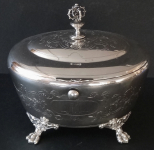 Silver bowl for sweets, gilded