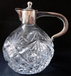 Cut glass jug with silver - Theodor Müller, Weimar