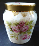 Mug with roses and gilded trim