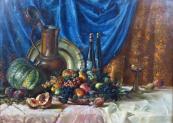 Fritz Baum - Zátiší s ovocem a džbánem