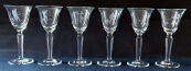 Liqueur glasses with engraved figural motives