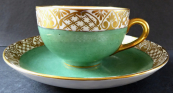 Green cup with gilded trim - Langenthal, Bern