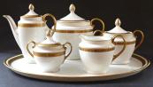 Čajový a kávový servis, s tácem - Empire, Karlovy Vary