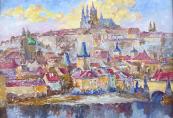 Ferdinand Kotvald - A view of the Prague Castle
