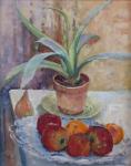 Jan Procházka - Zátiší s ovocem a květinou