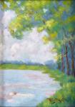 Frantisek Josef Klir - Pond in the Veltrusy Park in spring