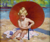 Rudolf Budsky - Little girl under the parasol