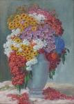 Karel Schadt - Colorful flowers in vase