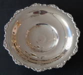 Kulatá stříbrná mísa, nízké nožky - Gregio Rino, Padova