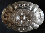 Neo-renaissance silver bowl with fruit