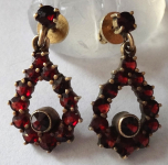 Silver smaller garnet earrings - drops