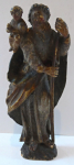 Small wooden polychrome statuette - Saint Christopher