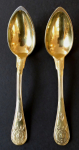 Two gilded silver spoons Empire - Paris