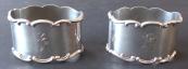 Dva stříbrné kroužky na ubrousky - Lutz & Weiss, Pforzheim