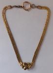 Double gold chain with a cartouche - Biedermeier