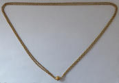 Double gold chain with a ball - Prague 1866 - 1880
