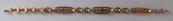 Zlatý náramek s kroužky a ovály - Leopold Gugg, Vídeň