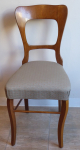 Židle se světlou linkou, dubová - Biedermeier
