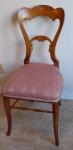 Židle s intarzovanou linkou a jemnou řezbou - Biedermeier