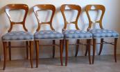 Čtyři židle se světlou intarzií - Biedermeier