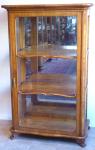 Vitrína ( skleník ) , třešeň, s lištami - pozdní biedermeier