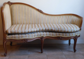 Chaise longue, walnut, carving - Third Rococo