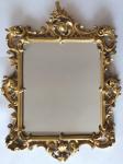 Dřevěné zlacené zrcadlo, s barokní řezbou - Haff & Pisa