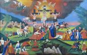 Kalvárie - naivní lidová malba