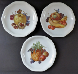 Three plates with fruits and butterflies - Rosenthal