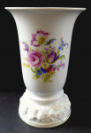 Vase with colorful flowers and embossed base - Rosenthal