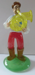 Glass figurine, tuba player - Zelezny Brod Glass