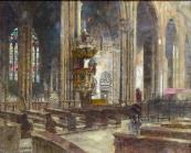 Bedrich Cerny - Interior of the Church of St.Vitus