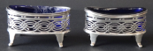 Oval Silver Salt & Pepper Containers - Williams Birmingham Ltd. , year 1905