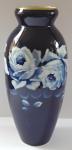 Cobalt porcelain vase with roses - Eichwald