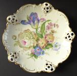 Dekorativní miska s květy a rokaji - Rosenthal