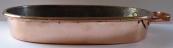 Měděný oválný pekáč, s úchytem - Evropa 1830 - 1890