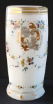 Malovaná vázička, číše z alabastrového skla