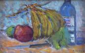 Jindřich Stehlík - Zátiší s ovocem a lahví