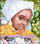 Portrét dívky v bílém čepci dle Joži Úprky - RAKO