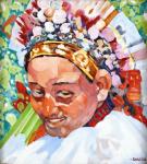 Portrét dívky v barevném čepci dle Joži Úprky - RAKO