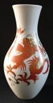 Váza s červeným čínským drakem - Wallendorf