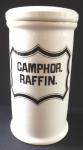 Porcelánová lékovka, Camphor. Raffin - Loket
