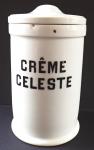 Porcelánová lékovka, nápis Creme Celeste - Loket
