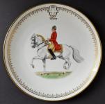 Malovaný talíř s jezdcem na koni - Ernst Wahliss